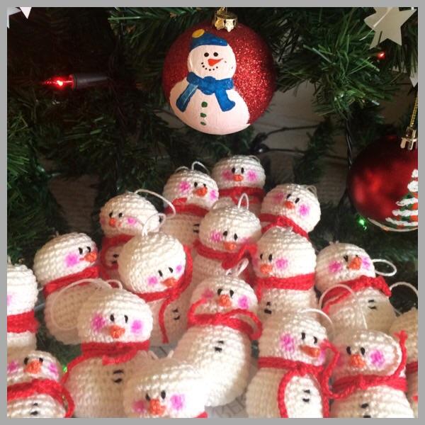 Christmas Ornaments Snowman Doubletrebletrinketsdoubletrebletrinkets