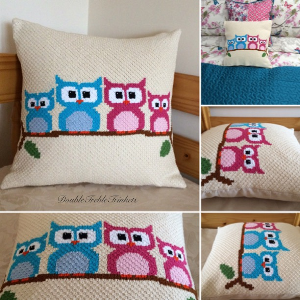 Owl Cushion Cover Doubletrebletrinketsdoubletrebletrinkets